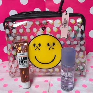 PINK Bags - PINK Poolside Clear Pouch, Mist & Lotion Set